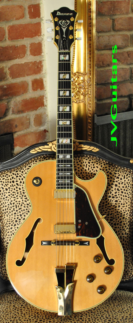2007 Ibanez GB10 NT BLOND Figured Maple Beauty Legendary Signature George Benson Model  Japanese crafted Jazz Box ....This one has KILLER Vintage Figured Birdseye AAA Maple with patina and near MINT C