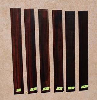 Brazilian Rosewood Fingerboard blanks Luthier materials ....$129 each