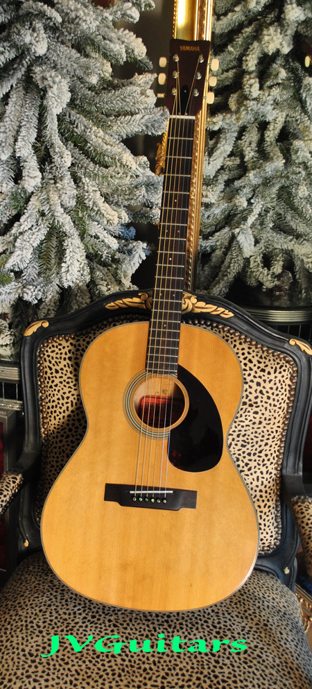1971 YAMAHA FG75 Nippon Gakki Grand Concert Acoustic guitar crafted in Japan 47 years old patina Rare FLAMED WOODS excellent+ Vintage cond fresh JVG set up - we call it Clean Boy