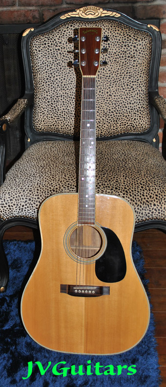 1976 Takamine F375s Exotic Brazilian Jacaranda Rosewood body acoustic guitar Hand built in Japan over 40 years ago in very good ++ Vintage condition