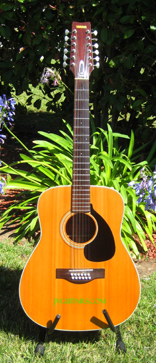 74 Yamaha Red Label FG230 12 string Acoustic beautiful 40 year old vintage guitar and sounds SWEET! ... $499