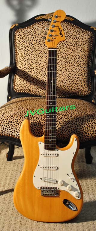 1981 Memphis  66 Stratocaster Natural finish Reissue by Memphis Japan This one is like Bonnie Raitt's 1966 Strat Way cool Memphis - Matsumoku Factory HQ Very nice woods++ Sounds GREAT WOW... $499.00
