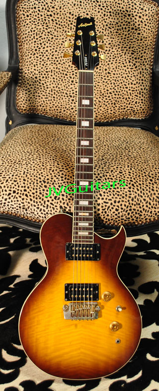 1980 Aria Pro II PE500 Prototype Flame top Les Paul style very well crafted in Japan over 33 years ago great sounding & playing rock machine...just $ 479.00