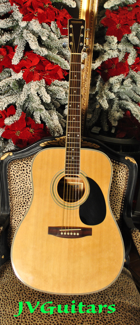 Hohner HW600s Martin D-35 copy Gorgeous 3 piece back with Herringbone detail its in top vintage condition and a great sounding player just in .... just $399