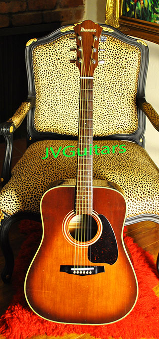 1980 IBANEZ V300 TV Srnburst Dreadnought Japanese Vintage Acoustic guitar.very nice quality great action and vintage tone... $395.00