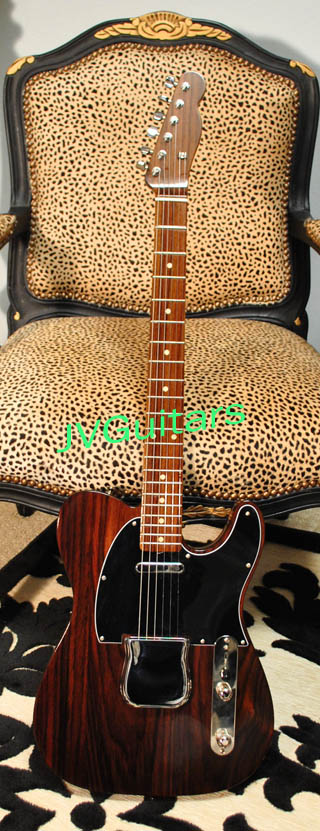 ALL-Rosewood Telecaster George Harrison JVG Rooftop 69-T model Custom Luthier built using beautiful choice Rosewood .....Wow.....available from $2,999.00