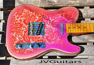 Paisley Telecaster Pickguard  custom made to exacting standards to the REAL DEAL and others correct color!....$119.00