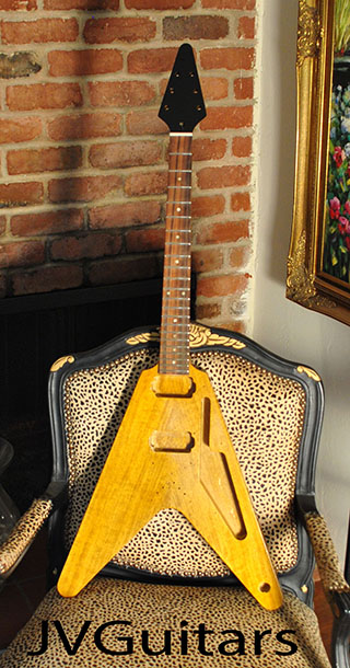 1958 KORINA Flying V custom JVG-Luthier built USA Brazilian rosewood fingerboard Old stock early 60s inlays