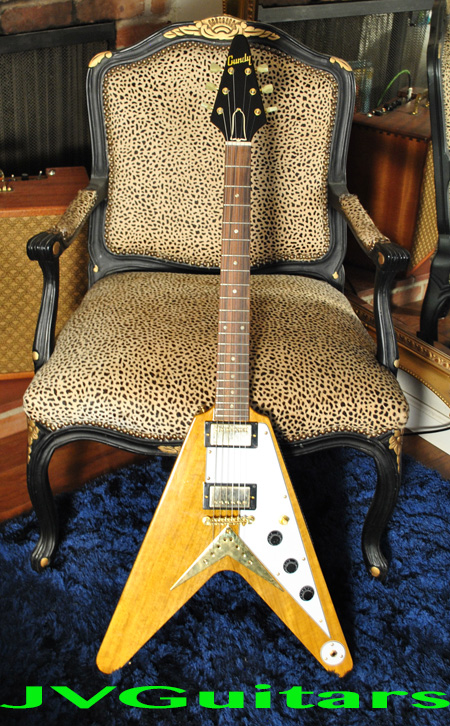 JVG Luthier Built 58 KORINA Flying V solid Korina wood African Limba with Brazilian Rosewood fingerboard Old stock pearloid inlays custom build