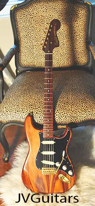 1968 ALL ROSEWOOD  STRAT  JVG-Luthier built in USA Lindy Fralin 1960s USA pickups Beauty & Tone  WoW!  $3,699.00