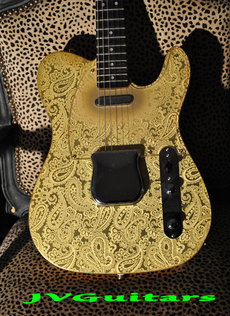JVG Luthier Built 69 Paisley T Goldy 3-D Foil Reflected One of a Kind and available to ship NOW $ 1799.00