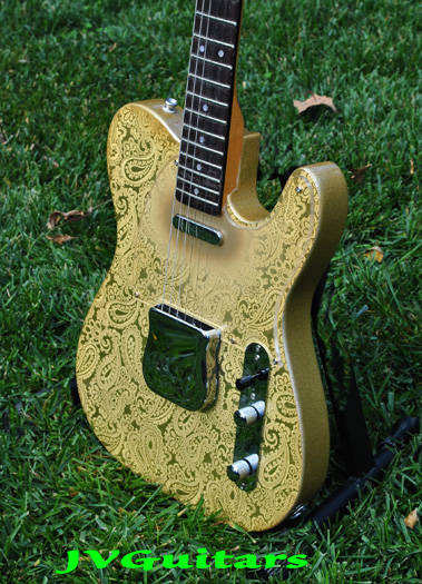 ORDER YOUR  JVG 69-T Paisley Tele  lightly aged Custom Luthier built guitar order yours here then we make pre ship SAVE $$$ .....