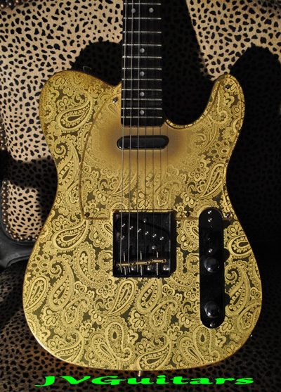 JVG Luthier-Built Paisley 69T  24K GOLDEN Foil Hand Crafted in USA  good wood
