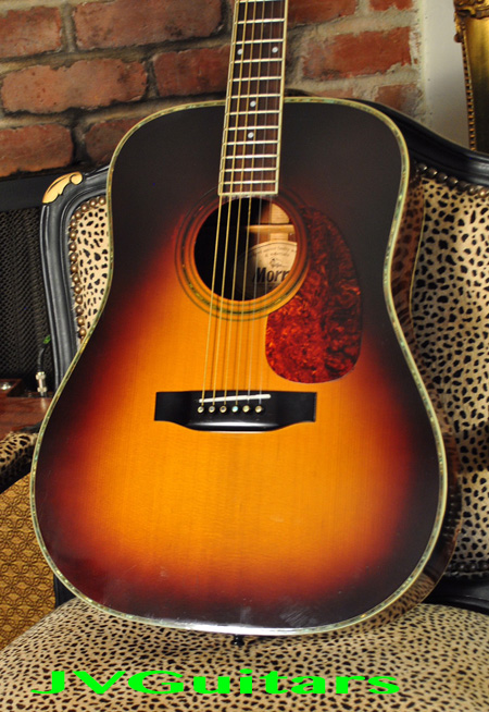 70s Morris D28 Martin copy model W35 Set up Bone nut & saddle Martin 80-20 strings Beautiful Hand crafted in Japan