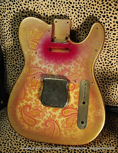 JVG RebornOld Paisley 69T Heavy Relic Body..... old school wallpaper Custom Luthier built  body
