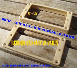 REBORN OLD GUITAR PARTS = M-69 Rings , aged Reproduction Humbucking Pickup ring set...list $270.00 our introductory price is just $239.00