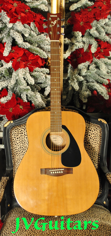 Yamaha F310 Dreadnaught acoustic guitar set up plays nicely excellent used just $299