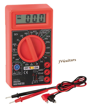 MULTIMETER a very handy tool for the guitar Tech electric guitar and amp  guy should have one , Just $ 22.00 shipped US 48